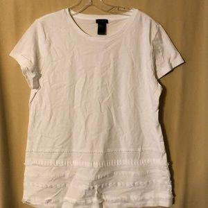 ANN TAYLOR women's WHITE short sleeve top NWT